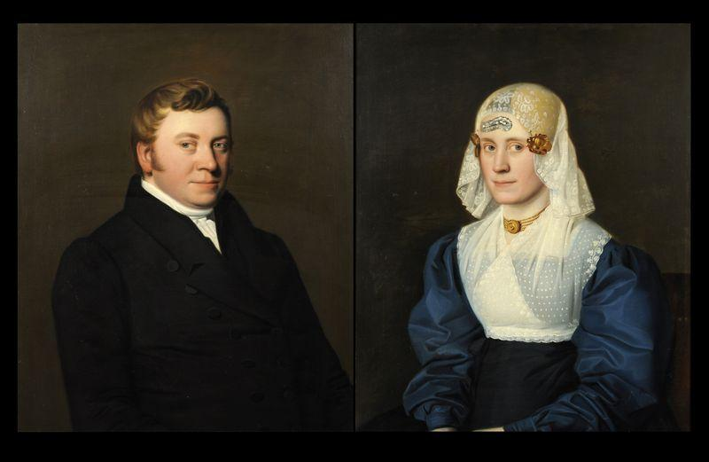 Portretten van Sjoerd Bouwe Stienstra en Maria Lucia van Lon