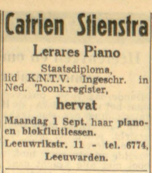Leeuwarder courant : hoofdblad van Friesland 29-08-1952