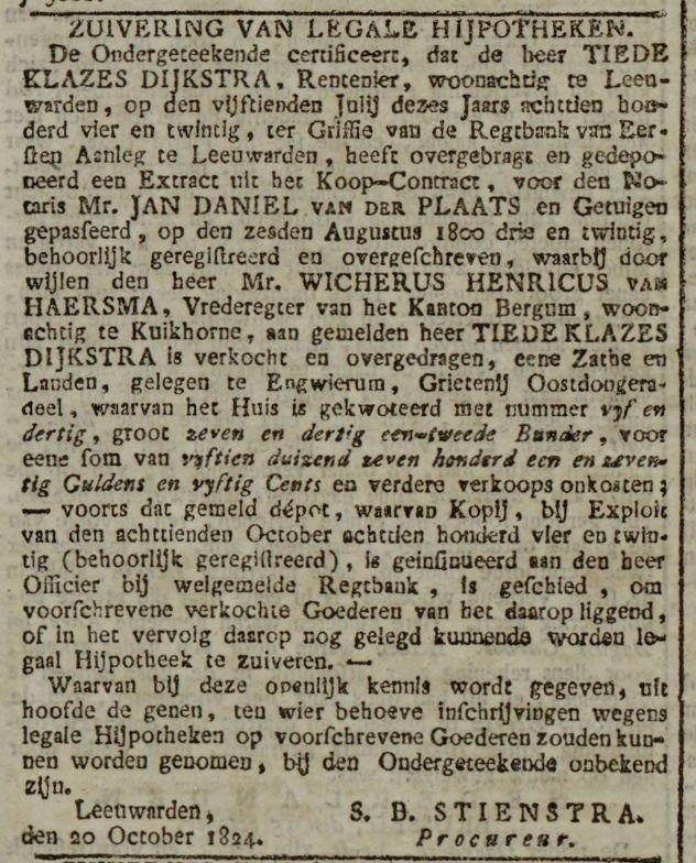Leeuwarder courant 22-10-1824
