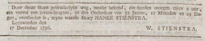 Friesche courant : gelykheid, vryheid en broederschap 21-12-1796