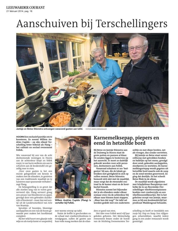 Leeuwarder Courant  21 feb. 2014